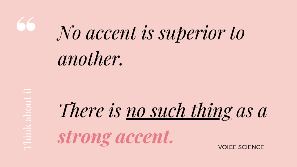 strong accent