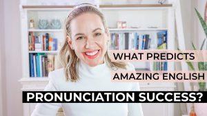 English pronunciation success